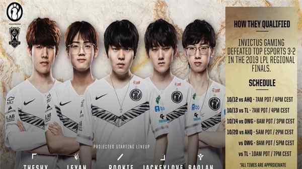 iG公布S9世界赛小组赛首发名单 ning王不在首发之列