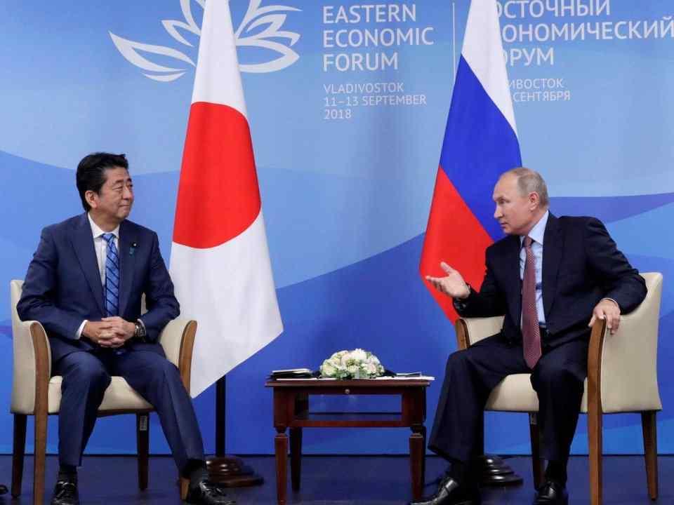 海参崴归还条约 安倍见普京再谈北方四岛:可以登岛搞经济合作,归还门都没有