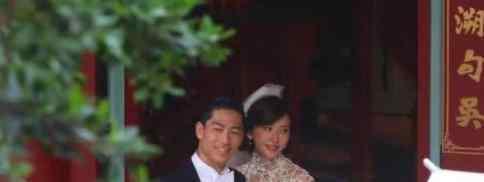 林志玲婚礼彩排  照片曝光林志玲身穿珍珠白纱(图)