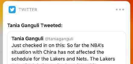 湖人篮网NBA中国赛未受影响 具体什么情况