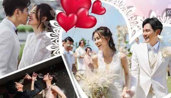 萧正楠黄翠如巴厘岛补办婚礼 二人幸福相拥超甜