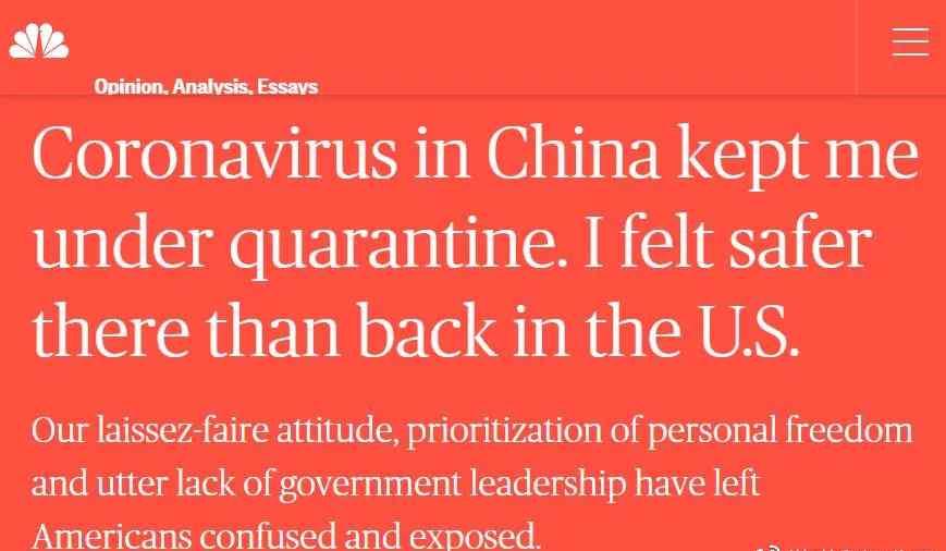 palpable 美学者讲述隔离经历:回到美国才感到中国更安全丨外媒说