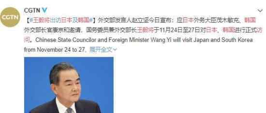 王毅将访问日本韩国上热搜,具体情况是怎么样