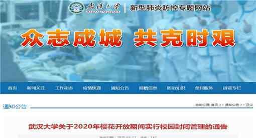 武汉大学开通云赏樱何时开始通过什么渠道观赏附通知全文