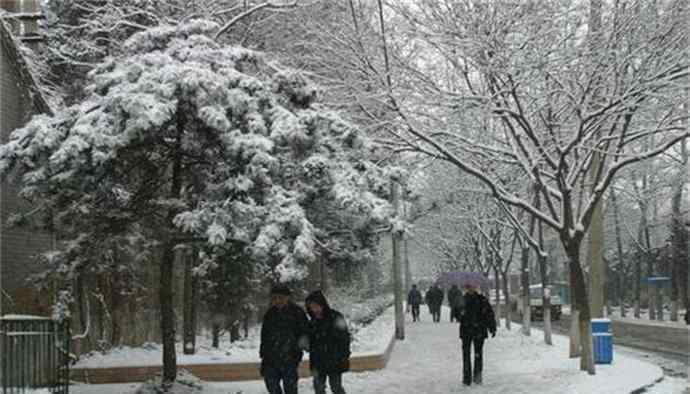 北京寒潮蓝色预警  情人节大雪纷飞为情侣营造浪漫氛围
