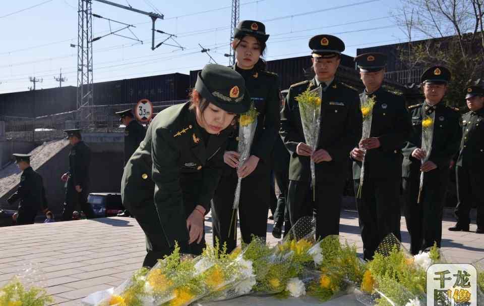 北京丰台区退役军人事务局机关干部赵登禹墓前缅怀烈士